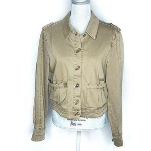 Anthropologie Hei Hei Jacket Cargo Pockets Buttons